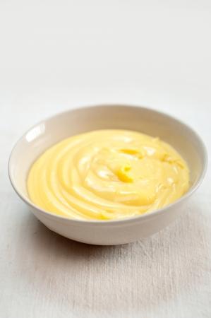 frischen natürlichen hausgemachten Vanillepudding Gebäckcreme