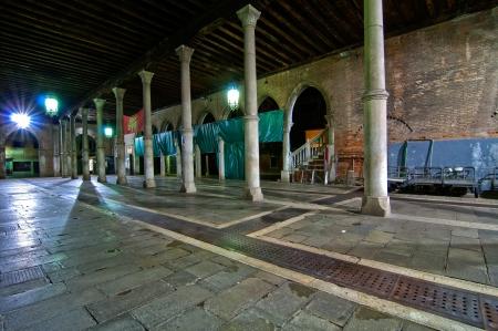 city fish market: Venice Italy pescheria fish market when closed by night