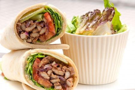 meat skewers: kafta shawarma chicken pita wrap roll sandwich traditional arab mid east food