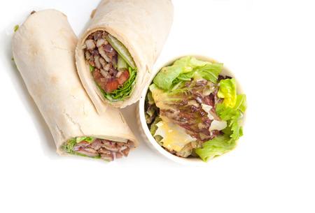kafta shoarma kip pita wrap sandwich traditionele Arabische mid east