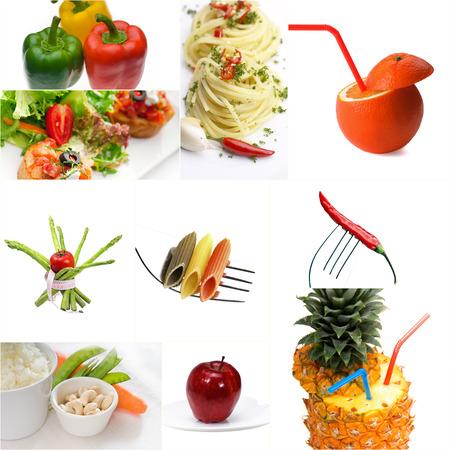 dietetic: Organic Vegetarian Vegan dietetic  food collage  bright  mood