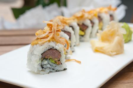 maki sushi: faites rouleaux de sushi japonais frais appel�s Maki Sushi