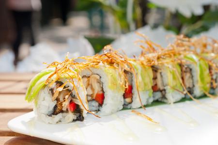 maki sushi: fresh made Japanese sushi rolls called Maki Sushi Banque d'images
