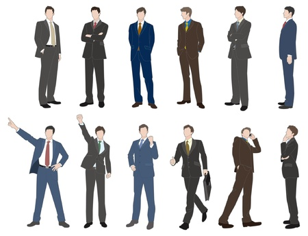 full suit: Businessman Illustration