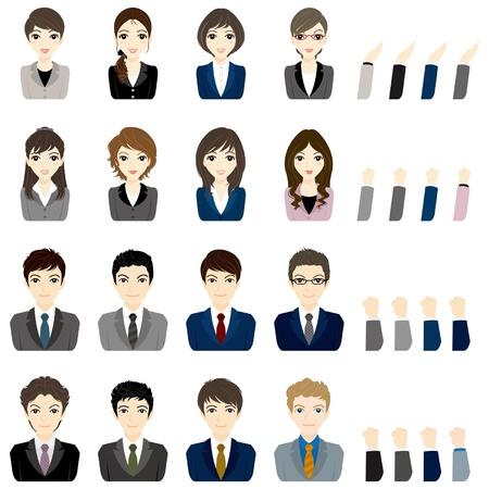 femme d affaire asiatique: Affaires homme d'affaires  du visage