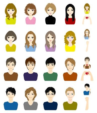 teen girl face: Los ni�os y ni�as