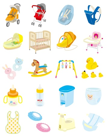 Baby goods Stock Vector - 12135591