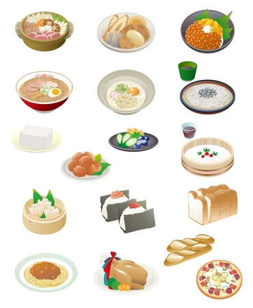 sottoli: Cibo giapponese Vettoriali