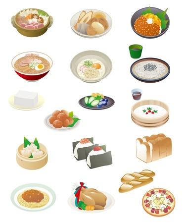 comida japonesa: Comida japonesa Vectores