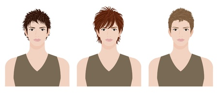 man hairstyle Stock Vector - 12135587