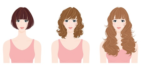 girl short hair: woman hairstyle