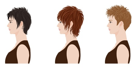 hair styling: man Hairstyle Illustration