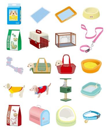 háziállat: Kisállat felszerelések Illusztráció