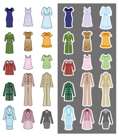 Fashion  Woman  Clothes Vector