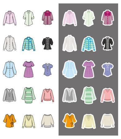 maglioni: Moda  Donna  Abbigliamento Vettoriali
