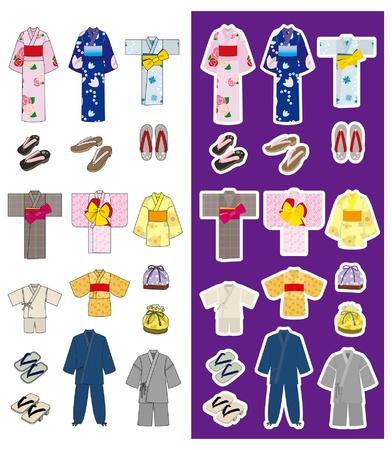 ropa de verano: Moda  Kimono  Japonés Vectores