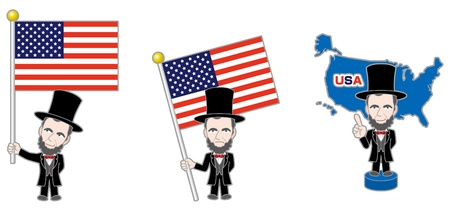 lincoln: American  American history Illustration