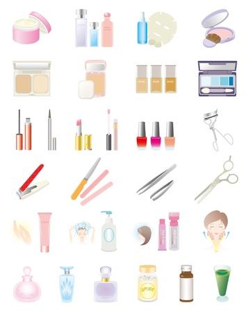 pinzas: Productos cosméticos Vectores