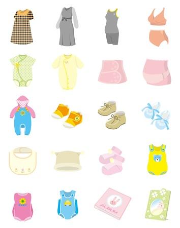 enfant maillot de bain: Produits pour b�b� Illustration