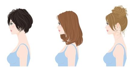 Hairstyle / Donna Vettoriali