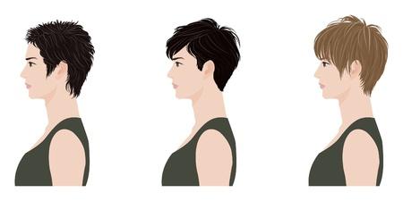 короткие волосы: Прическа Человек