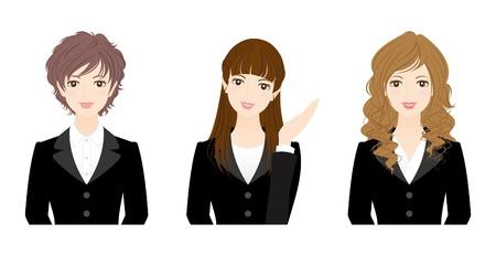 long hair woman: Mujer de negocios