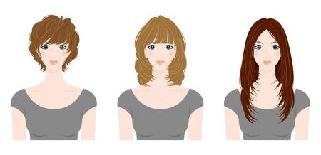 Hairstyle / Frau Vektorgrafik