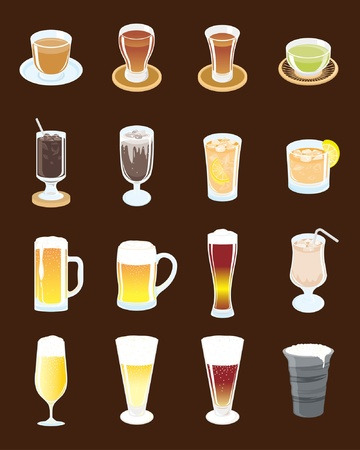 oolong: A selection of cold drinks