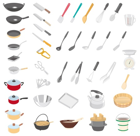 tongs: Kitchenware Illustration