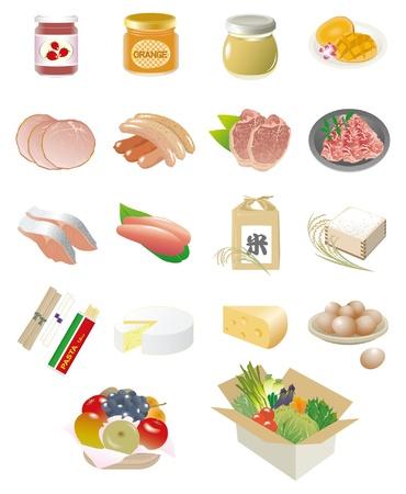 иллюстрировать: Разнообразие блюд Иллюстрация