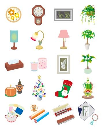 kadomatsu: Seasonal sundries  Japan Illustration