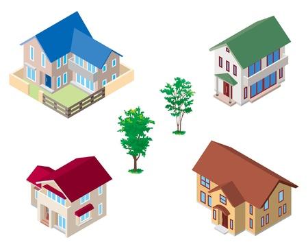 Model of houses Stock Vector - 12219611