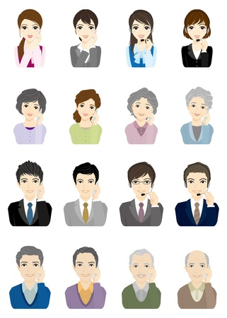 Business  Face Vector