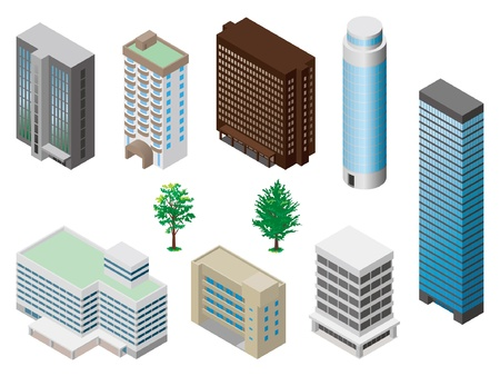 Models of buildings Vector