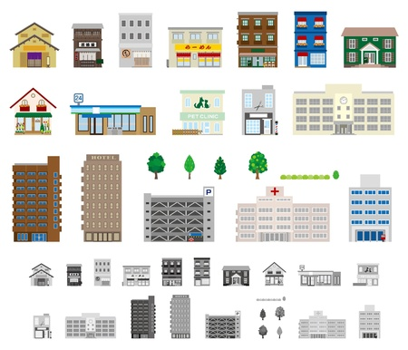 Buildings  Businesses Vector