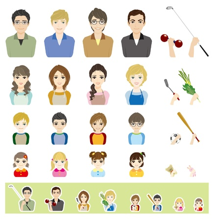 Family  Face Vector