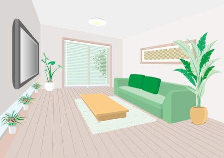 Living room Stock Vector - 12219696