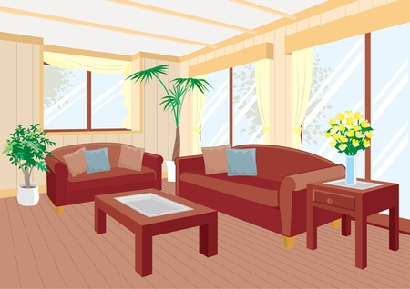 Living room Stock Vector - 12219687