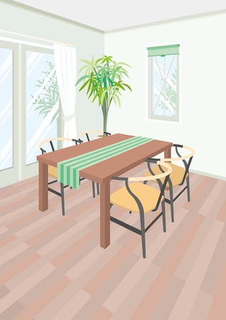 dining room: Dining Room Illustration