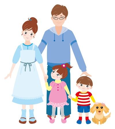 家族春  イラスト・ベクター素材