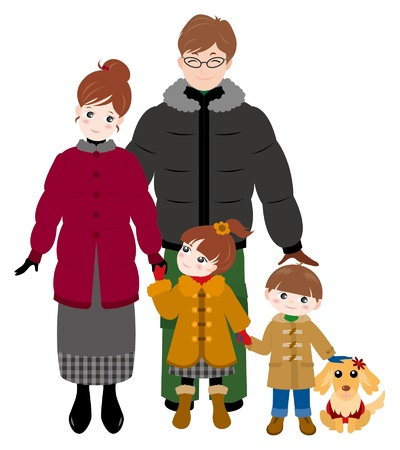Family / Winter Stock Vector - 12397867