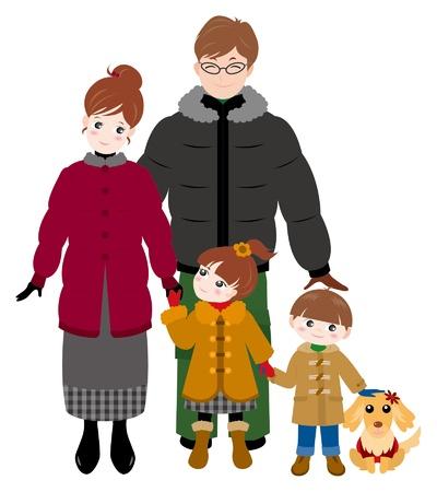 Family / Winter Stock Vector - 12397867