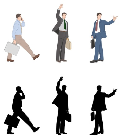 people standing: Businessman Illustration