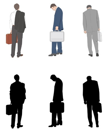 tired worker: Businessman Illustration