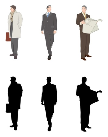 dignified: Businessman Illustration