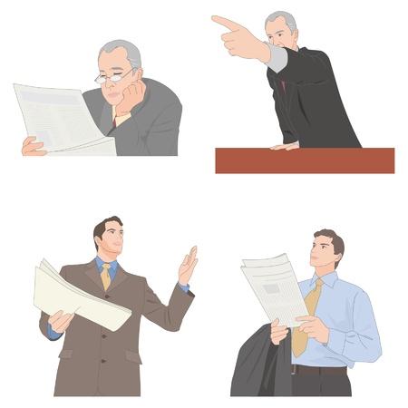 restructuring: Businessman Illustration
