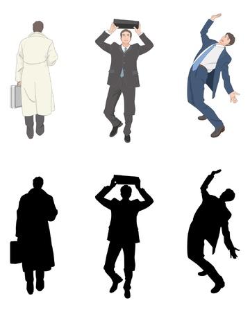 shadow people: Businessman Illustration