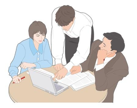 Business / Meeting Stock Vector - 12397919