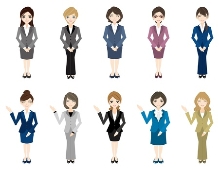 asian business people: Businesswoman