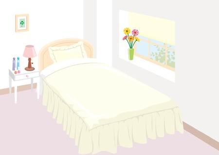 Lovely Bedroom Stock Vector - 12397920